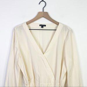 J. Crew Tops - J. Crew Creme Wrap Style Long Sleeve Blouse Top 14